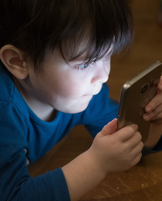 Boy using phone