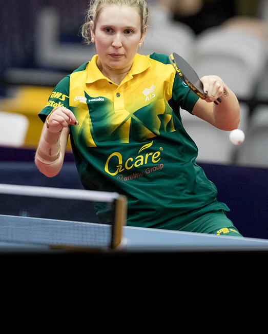 Milly Tapper ACU Olympics table tennis