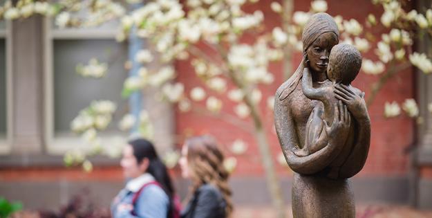 Statue of Mary and Child on Ballarat Campus