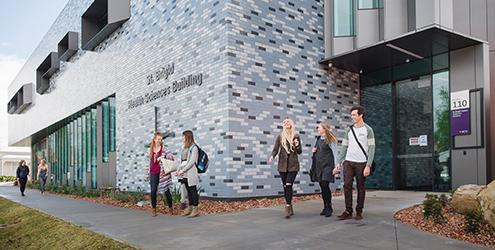 Outside the Ballarat science building