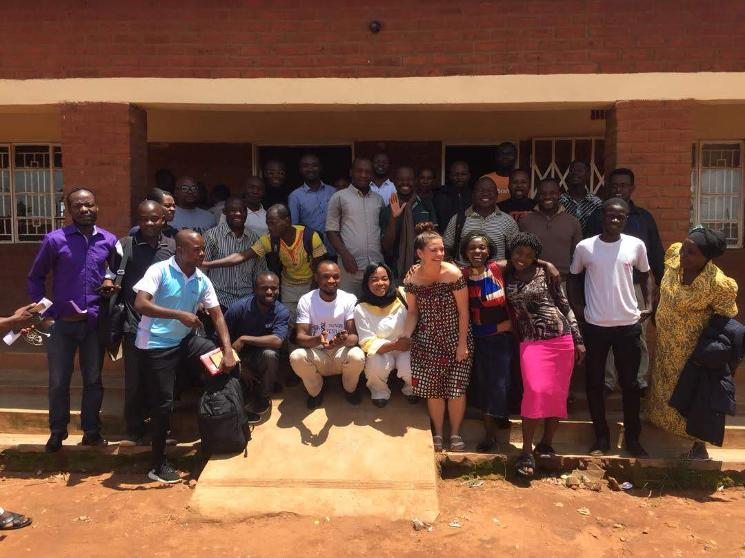 Last day at the camp with all the community based organisation leaders saying goodbye