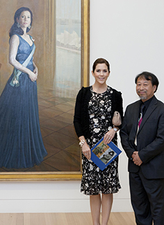 Jiawei with Princess Mary