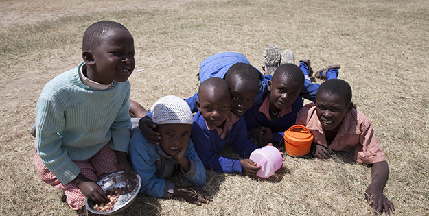 Happy Kenyan children