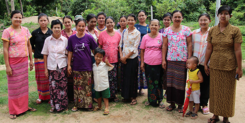 Child champions meeting in northern Myanmar