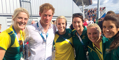 Nurse Olympics Prince Harry hockey